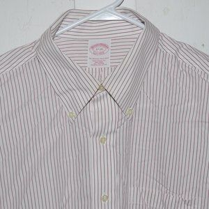 Brooks brothers mens dress shirt size 17 J902